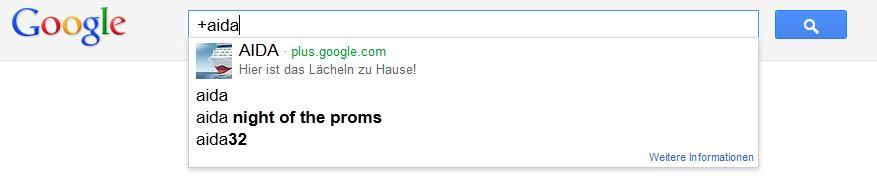 Suchergebnis für +Aida bei Google