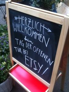 Etsy Tag der offenen Tür Schild